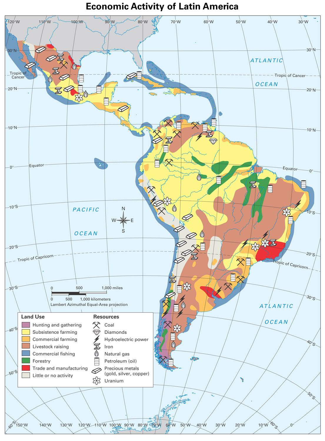 Economic Resources Map of USA http://brewerda.edublogs.org/about/latin-america/